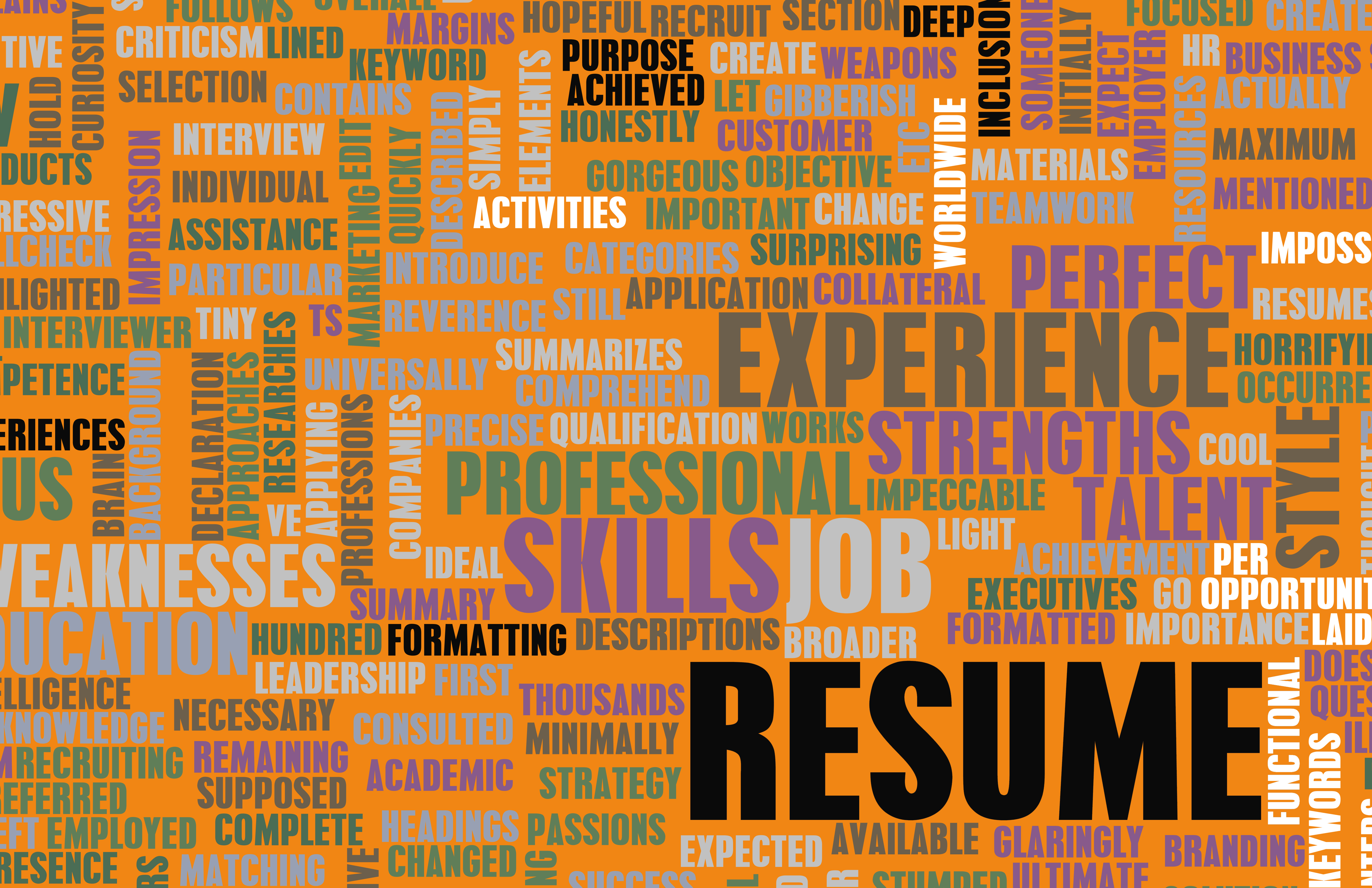 creating a resume that says hire me using keywords