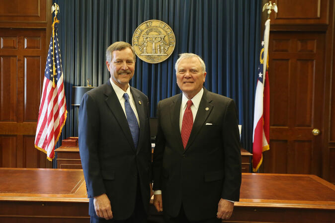Randy Hatcher and Governor Deal