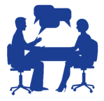 Picture of a conversation about our Outplacement Consulting
