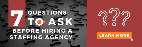 Infographic - 7 Questions to Ask Before Hiring the Best Staffing Agency