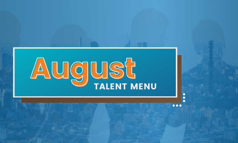 MAU's August Talent Menu Download
