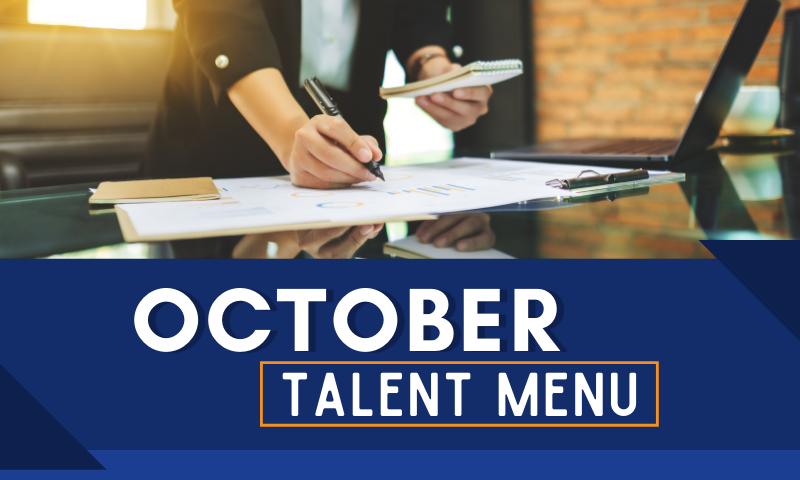 MAU October Talent Menu