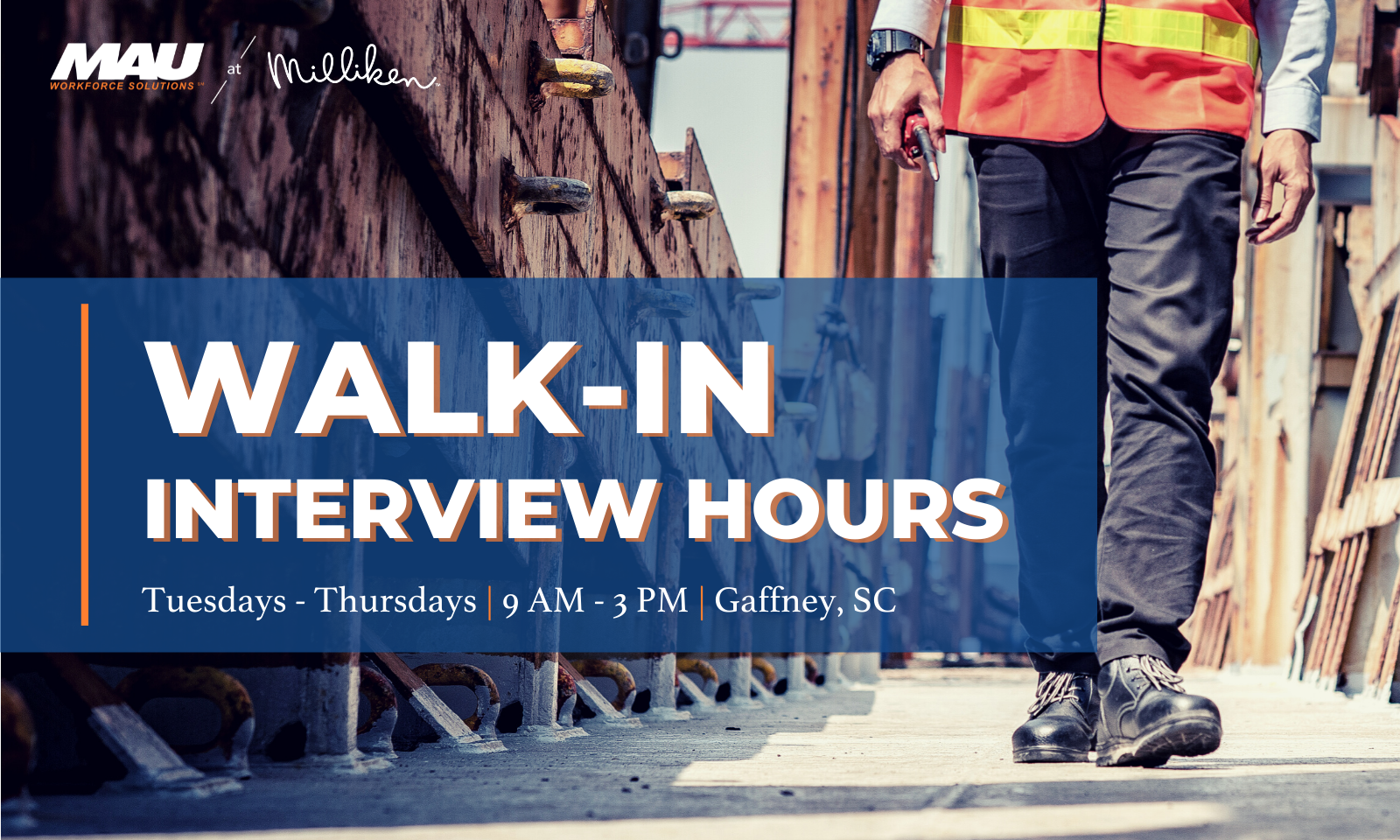 MAU at Milliken to Hold Walk-in Interview Hours at the MAU Gaffney branch