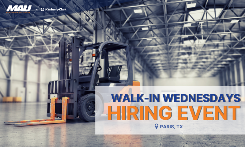 Walk in Wednesdays Hiring Event