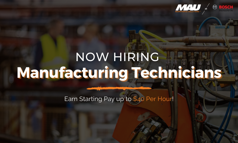 Earn Up to $40 per hour as a Manufacturing Technician at Robert BOSCH