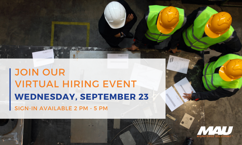 2020 September Virtual Hiring Event Manufacturing