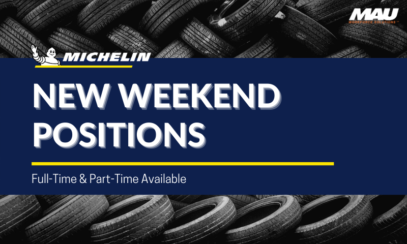 MAU at Michelin New Weekend Positions | Part-time and Full-time