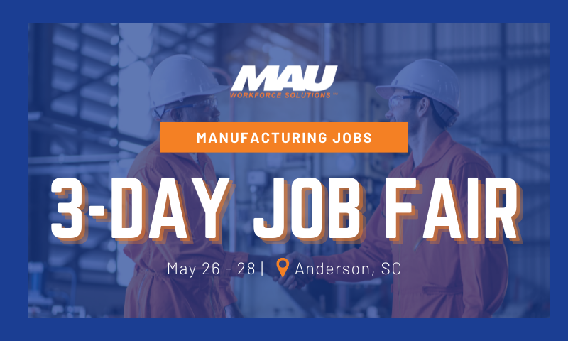 Three Day Job Fair in Anderson, SC