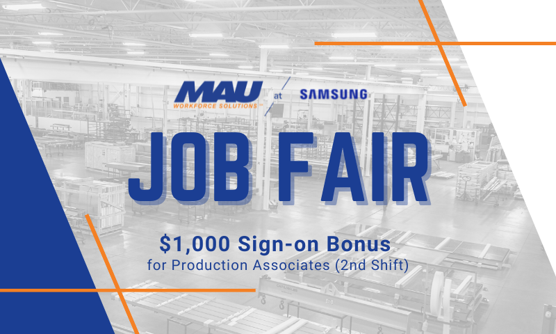MAU at Samsung Job Fair in Saluda, SC