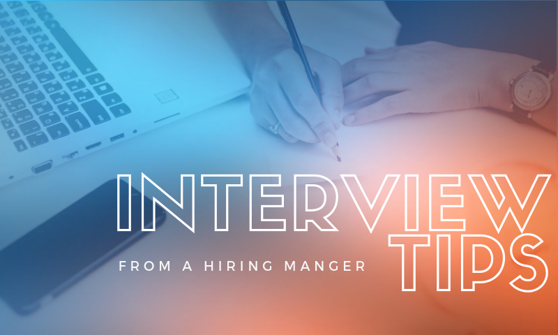 3 tips from a hiring manager