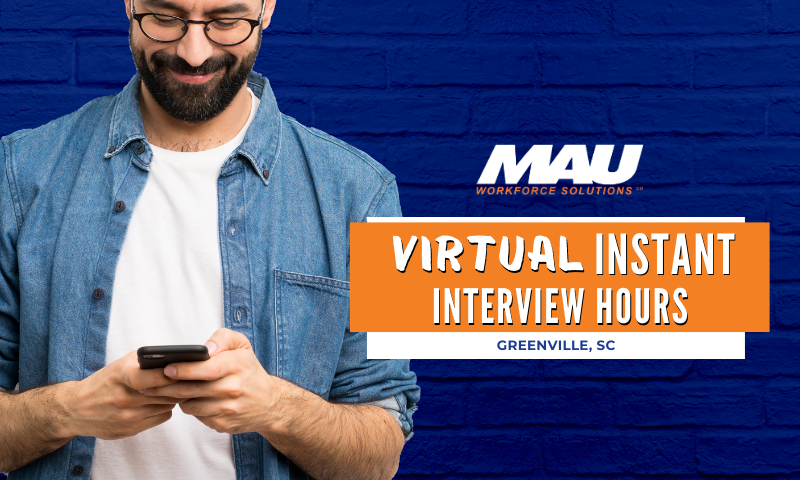 Greenville Virtual Instant Interview Hours