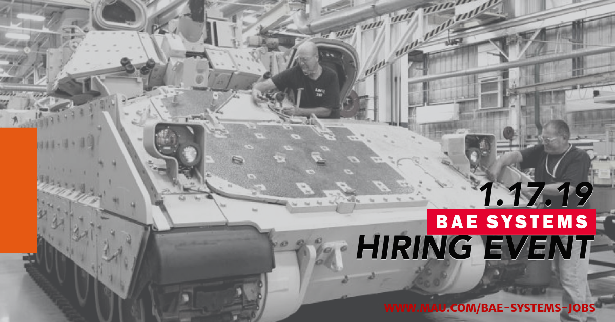 BAE Systems 1.17.19 Hiring Event