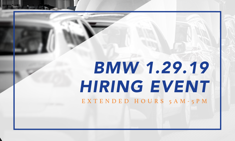 BMW 1.29.19 Hiring Event Blog Image