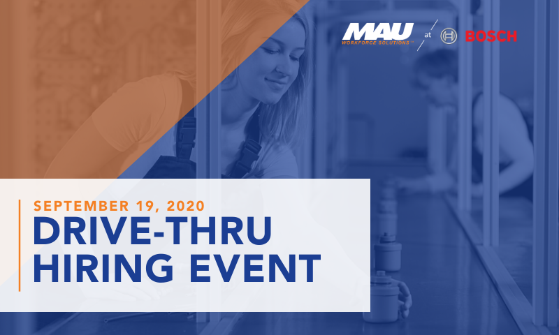 MAU at Robert BOSCH Florence Drive-Thru Hiring Event