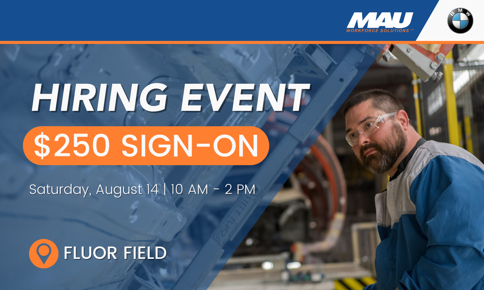 MAU at BMW August 14 Hiring Event