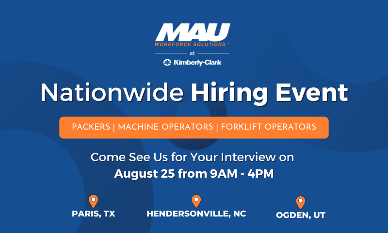 Nationwide Hiring Event August 25
