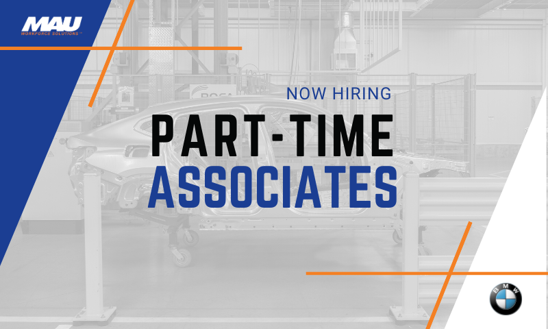 Now Hiring Part-time Associates for MAU at BMW