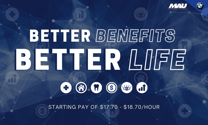 Better Benefits, Better Life | MAU at BMW Jobs