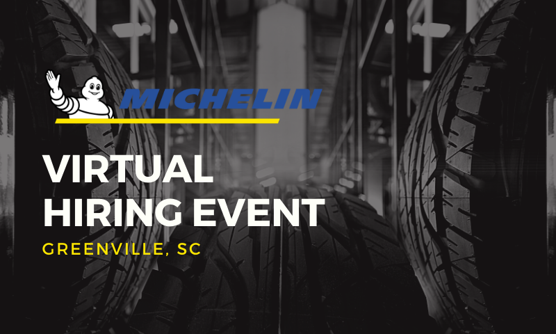 Michelin Virtual Hiring Event Greenville, SC
