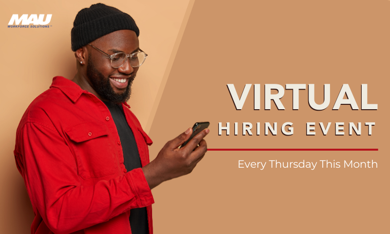 Join us every Thursday for a Virtual Hiring Event in Augusta, GA