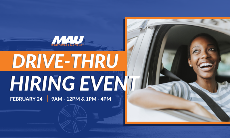 MAU at Amalie Oil is hosting a Drive-Thru Hiring Event