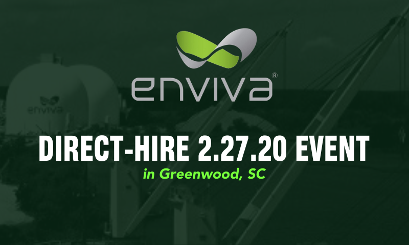 Join the Enviva Team in Greenwood, SC