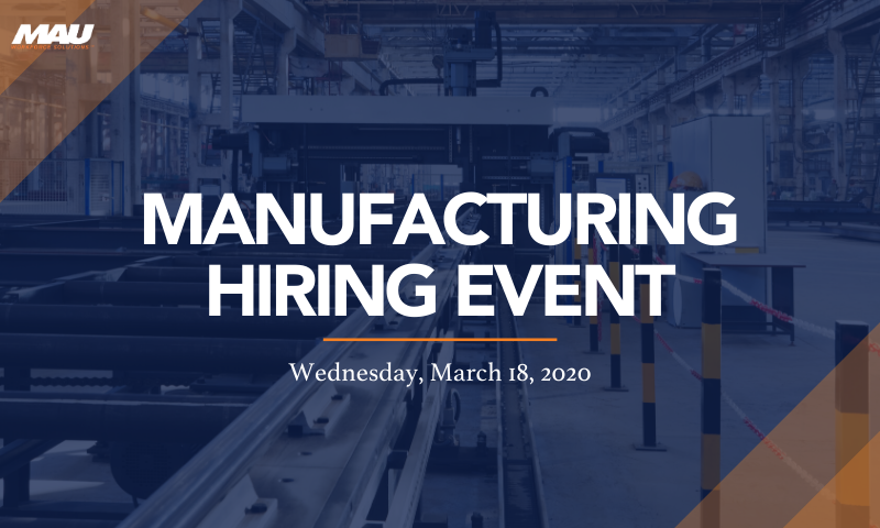 Attend the Florence Manufacturing Hiring Event