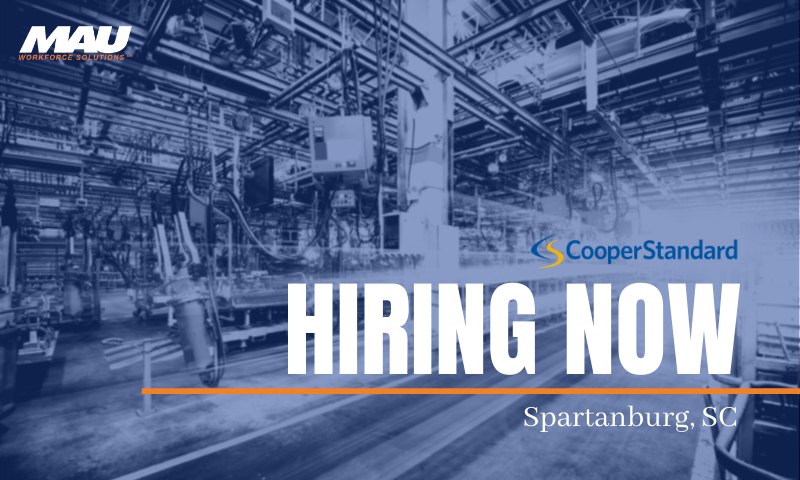 Now Hiring for MAU at Cooper Standard