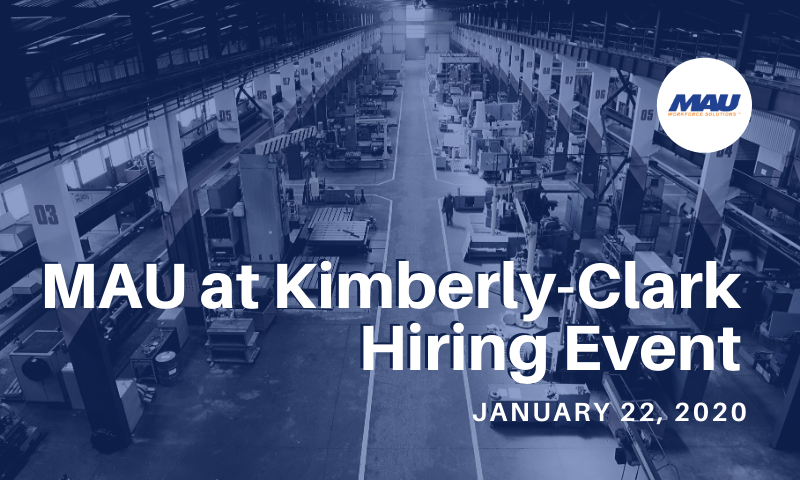 MAU at Kimberly-Clark Hiring Event January 2020