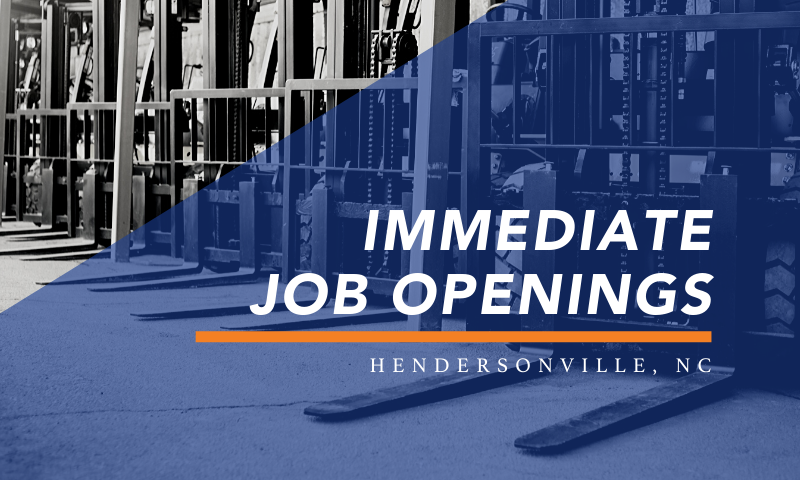 Immediate Job Openings in Hendersonville, NC