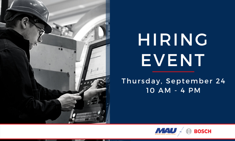 Attend the MAU at Robert BOSCH Albion Hiring Event
