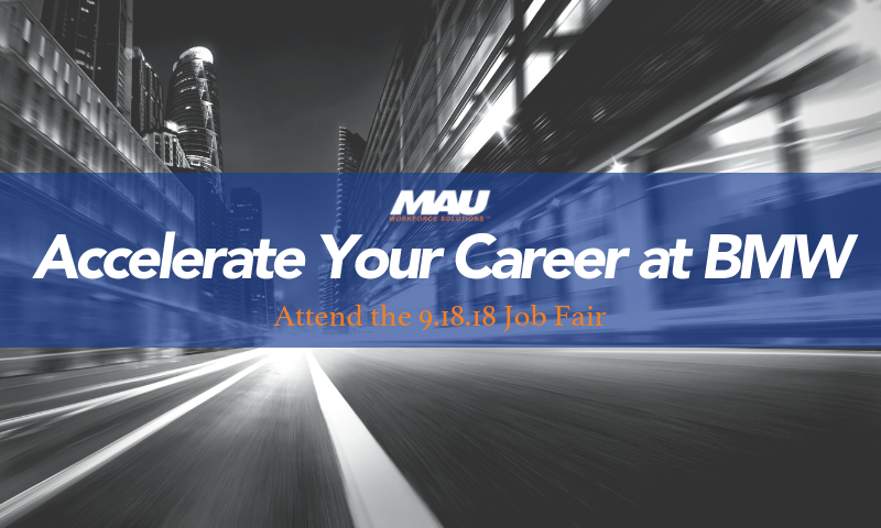 MAU at BMW 9.18.18 Hiring Event Blog Image