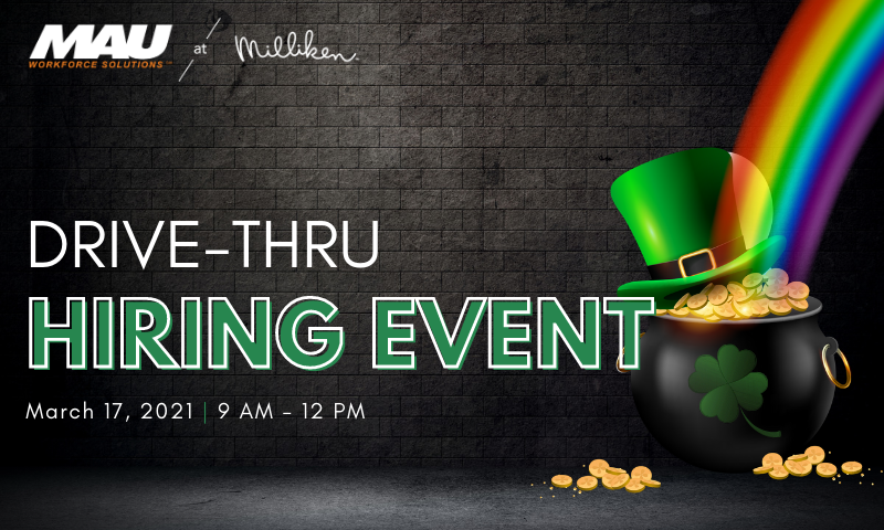 MAU at Milliken Drive-Thru Hiring Event in Pendleton, SC