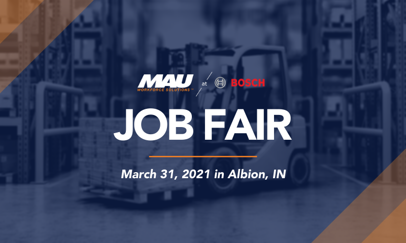 MAU at Robert BOSCH Albion Job Fair