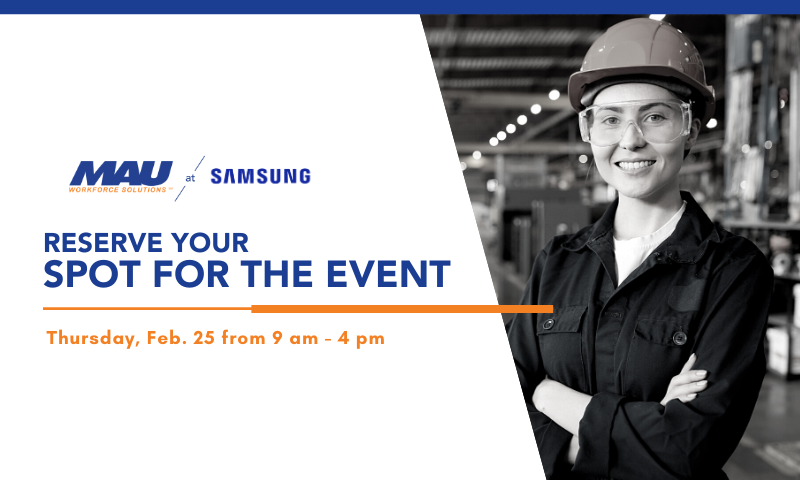 Reserve Your Spot for the MAU at Samsung Job Fair