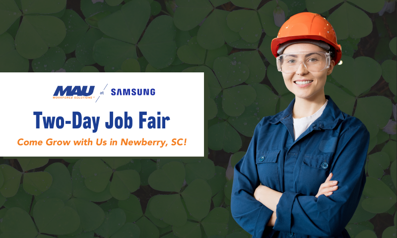 Come Grow with MAU at Samsung by attending the Two-Day Job Fair
