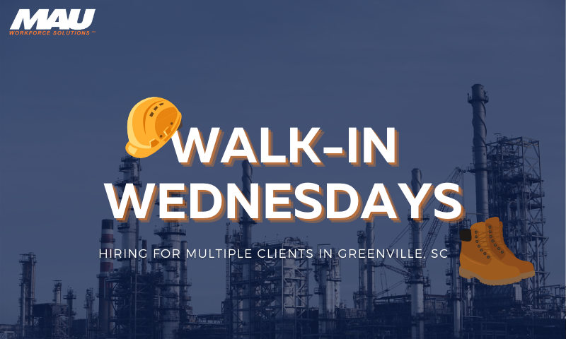 March Walk-in Wednesdays for Multiple Clients in Greenville, SC