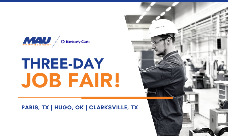 MAU at Kimberly Clark Three Day Job Fair