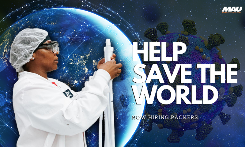 Help Save the World in Abbeville - Now Hiring Packers
