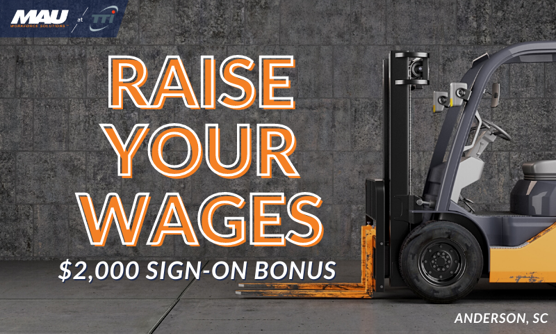 Raise Your Wages in Anderson, SC