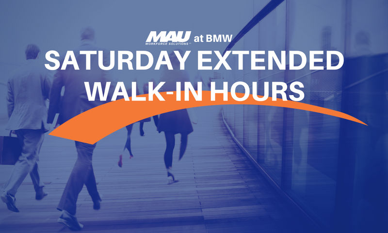 Attend the 4/29 MAU at BMW Extended Saturday Walk-In Hours