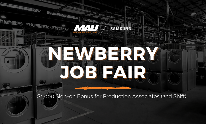 MAU at Samsung Newberry Job Fair
