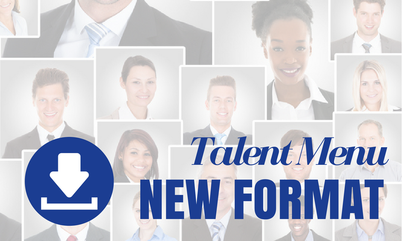 MAU Talent Menu [NEW Downloadable Format]