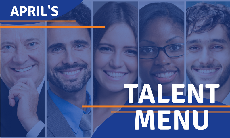 Talent Menu Header - April