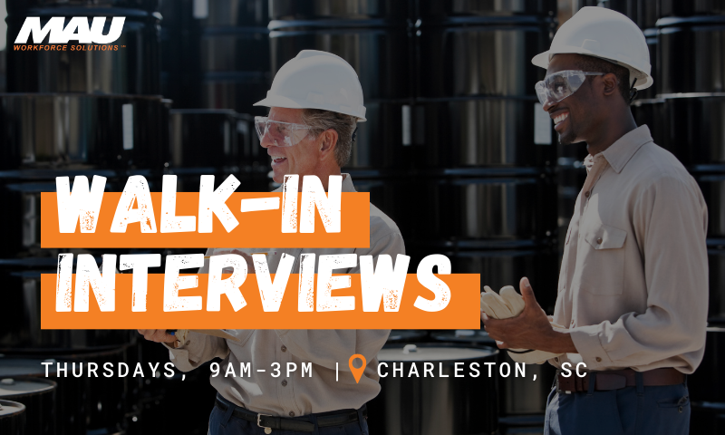 Charleston Walk-in Interviews