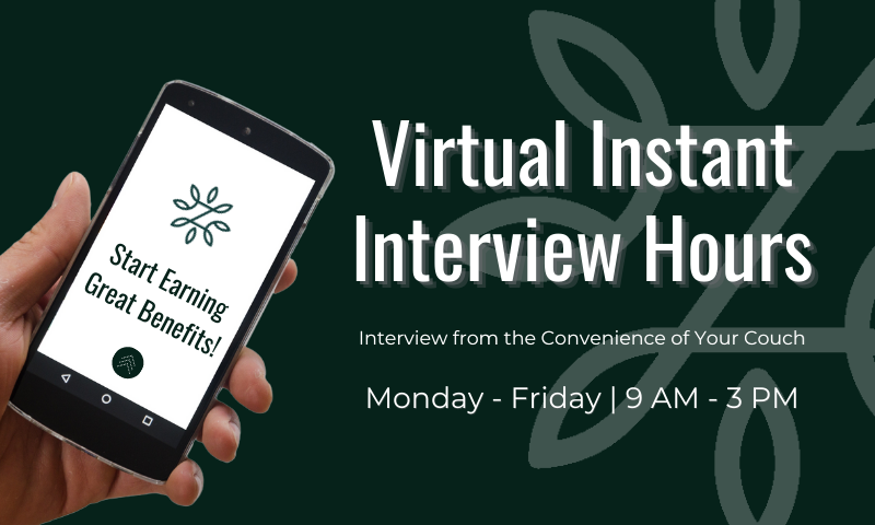 ZINUS Virtual Instant Interview Hours