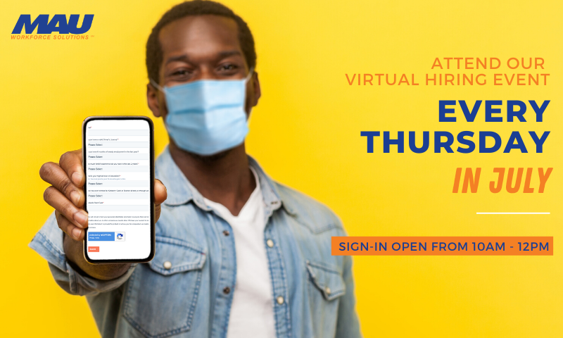 2020 July Augusta Industrial Virtual Hiring Event