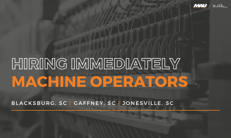 Hiring Immediately - Machine Operators in 3 locations!