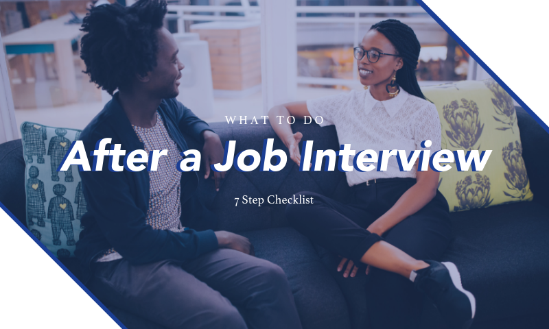 seven steps to take after a job interview